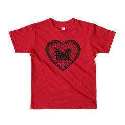 Butterfly Love, Butterfly In Heart, Kids T_Shirt