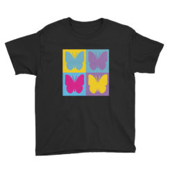 Colored Butterflies, Colorful Butterflies, Youth Short Sleeve T-Shirt