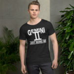 Men's Raw Neck Tee Gemini Zodiac Sign