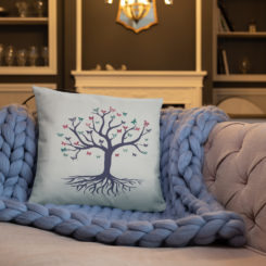 Tree of Life, Purple Tree, Butterfly's Pillow Case w/ stuffing