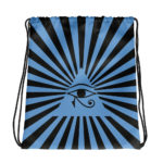 Eye Of Horus, Eye Of Ra. Blue Drawstring Bag