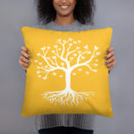 Tree of Life, Butterfly's Yellow Pillow Case w/ stuffing