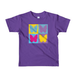 Colored Butterflies, Colorful Butterflies, Kids T-Shirt.