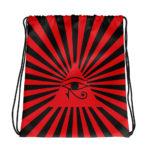 Eye Of Horus, Eye Of Ra. Red Drawstring Bag