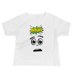 Bruh And Face, That Bruh Moment, Baby Jersey Short Sleeve Tee
