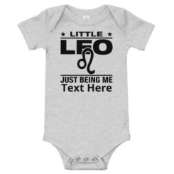 Leo Zodiac Sign, Baby Bodysuit. Personalize it.
