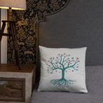 Tree of Life, Butterfly's Pillow Case w/ stuffing