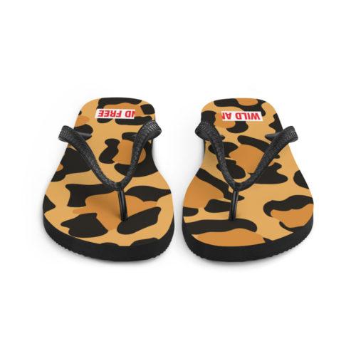 Flip Flops Leopard wild and free