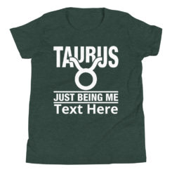 Taurus Zodiac Sign, Premium T-Shirt. Personalize it.