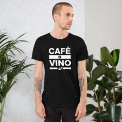 Cafe o Wino Unisex T-Shirt