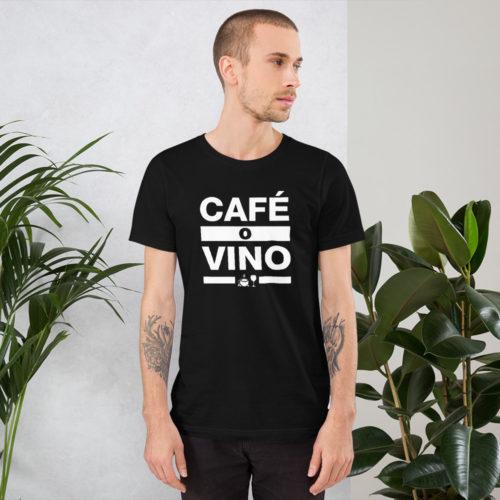 Café o Wino Unisex T-Shirt.