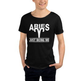 Men's Raw Neck Tee Aries Zodiac Sign