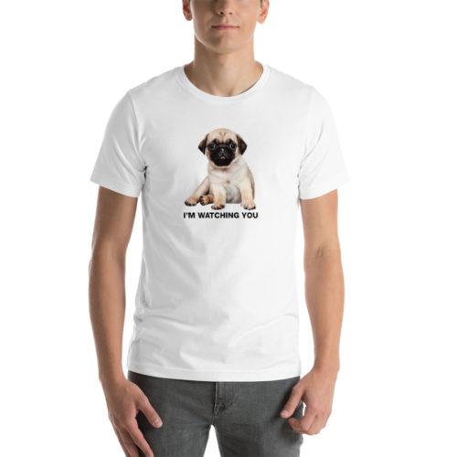 Pug watching you unisex