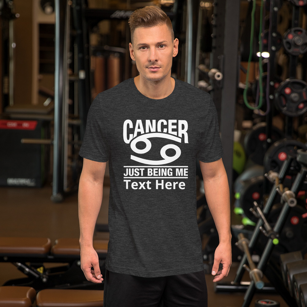Cancer zodiac sign t-shirt personalize it.