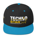 Techno Star Embroidered Snapback Hat