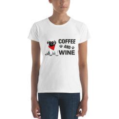 Pug Coffee Wine T-Shirt