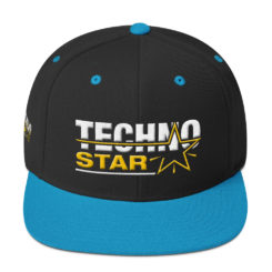 Techno Star Embroidered Snapback Hat 3D