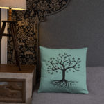 Tree of Life, Black Tree, Butterfly's, Pillow Case w/ stuffing