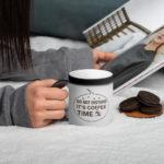 It's Coffee Time Matte Black Magic Mug